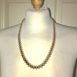 NAPIER Pearl and Gold tone Necklace & Bracelet set